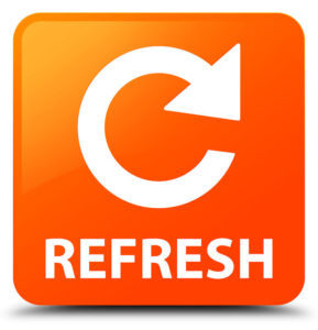65438837 - refresh (rotate arrow icon) orange square button